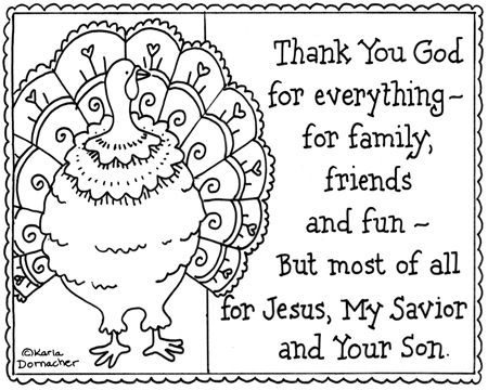 thank you god thanksgiving turkey coloring page sunday school