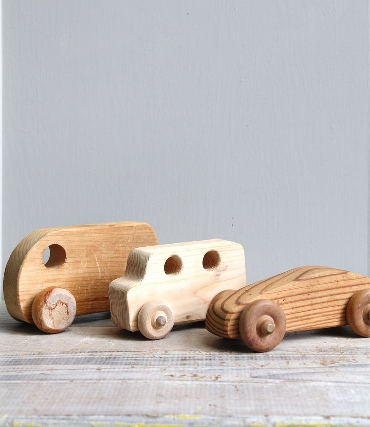 Vintage Wood Toy Car Collection