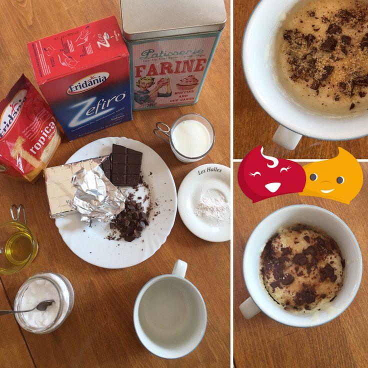 #Muffin alle gocce di #cioccolato in tazza: una #colazione pronta in 5 minuti #ricette