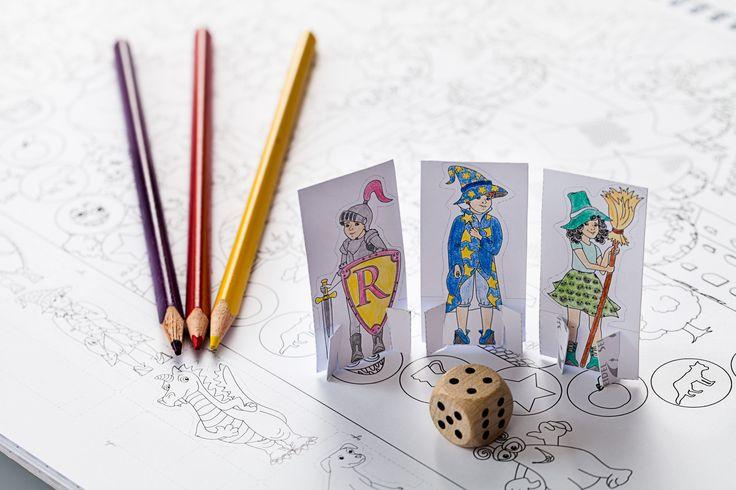 """Mein Lern-Spiel-Bastel-Malbuch, """"Abenteuer Schatzsuche"""", ein Brettspiel zum selbst gestalten und basteln"""