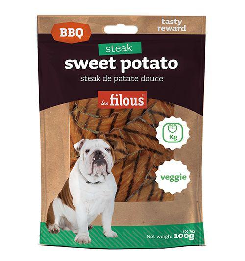 Steak grillé de patate douce pour chien, #veggie #lesfilous sweet potzto for dog