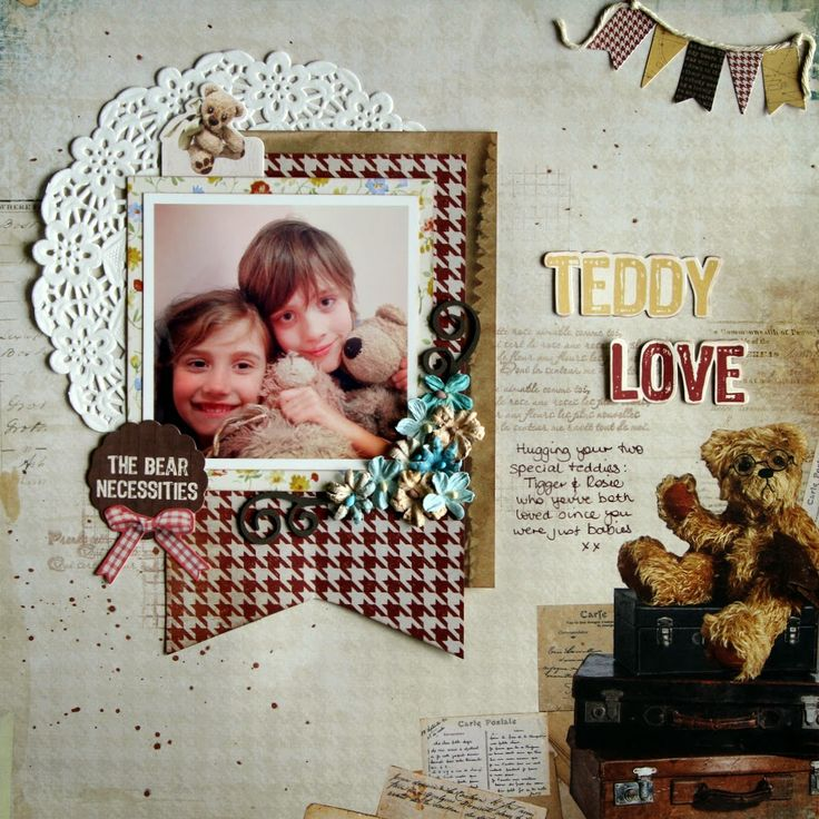 All About Scrapbook - Kaisercraft Teddy Bears Picnic - by Fiona Johnstone