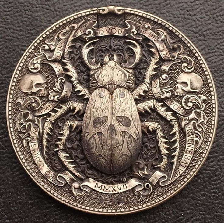 Artist Hand-Carves Incredible Gold Bug Coin with M…
