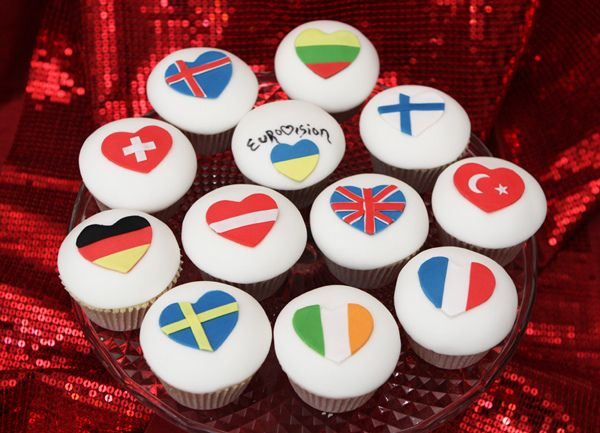 We could make these cooler. // Eurovision Cupcakes by The Great Little Food Company, via Flickr
