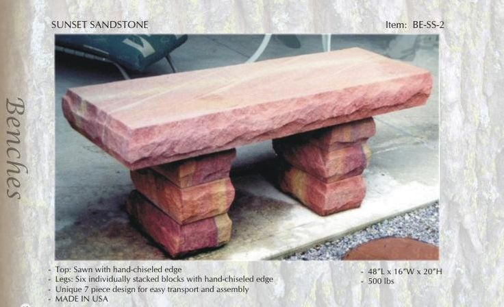 Stone Bench, Sandstone Bench, (all colors)Sandstone Garden Bench   Reg price $642 Sale Fri- Sun $599