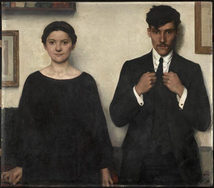 André Devambez (French, 1867-1944), Pierre et Valentine [children of the artist]. Oil on canvas, 102 x 115 cm. Musée departmental de l'Oise, Beauvais. Réunion des musées nationaux