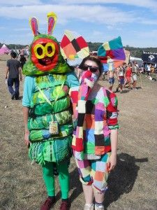Michael Julings and Lucy Foakes - Fancy Dress at Bestival 2012
