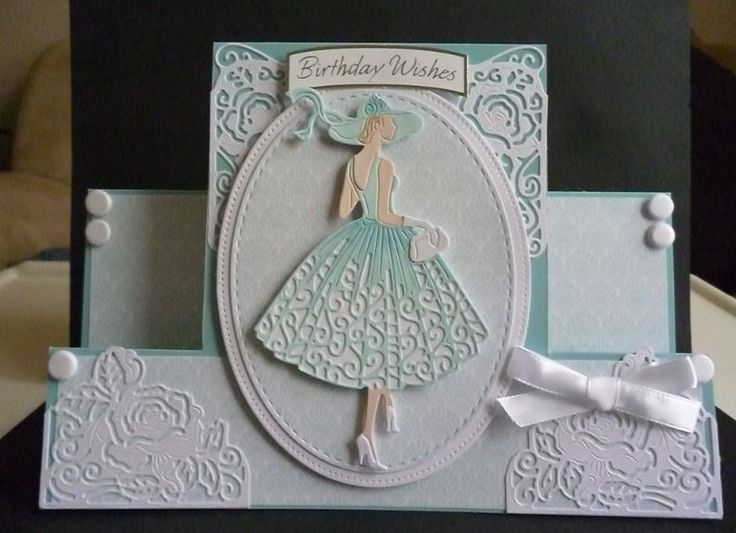 Card Making Ideas Using Tattered Lace Dies Part - 36: ... Making,Cricut,Card Ideas. Made By Pam Evans - Used The Tattered Lace  Out For A Stroll Lady - Lauren