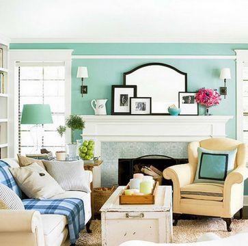 универсальный совет. Если есть сомнения по поводу того, с чем комбинировать мятный цвет в интерьере, сделайте выбор в пользу белого и кремового — и вы точно не прогадаете. Беспроигрышными акцентными партнерами будут цвета-соседи: зеленый и голубой.