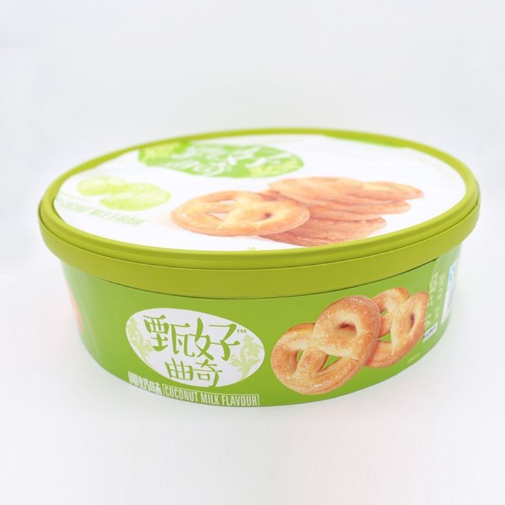 IML Round Plastic Cookie Containers Wholesale with Lids, Cookie Use And PP Plastic Type Cookies Plastic Container