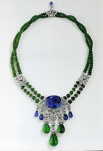 """""""Etourdissant Cartier"""" sapphires, emeralds and diamonds."""