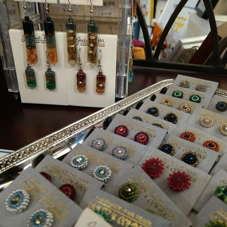 Fair Trade earrings by Dunitz in the Fair Trade Gallery at The Little Traveler in Geneva, IL. $14.50-$20.