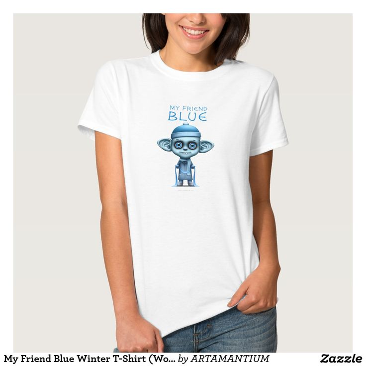 My Friend Blue Winter T-Shirt (Women's)