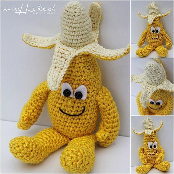 Vitamini van de Lidl, haakpatroon, haken, fruit, banaan