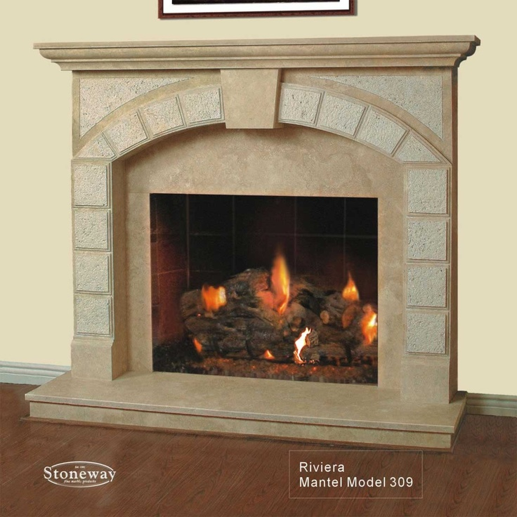two way fireplaces | ... Model 309 - Natural Travertine Fireplace Mantel - Stoneway Mantels