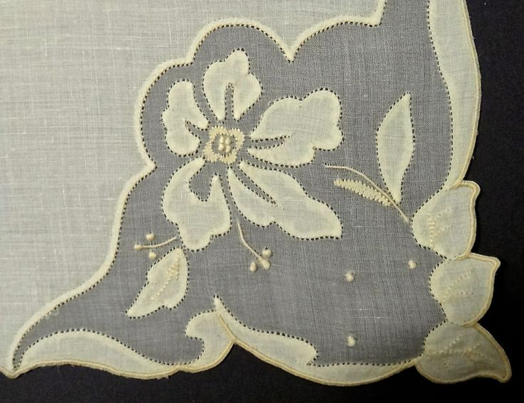 "Vintage Madeira Yellow Embroidery Applique Napkins 17"" - Set of 8 - Excellent!"