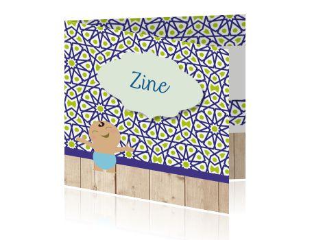 Arabisch islamitisch geboortekaartje tegels