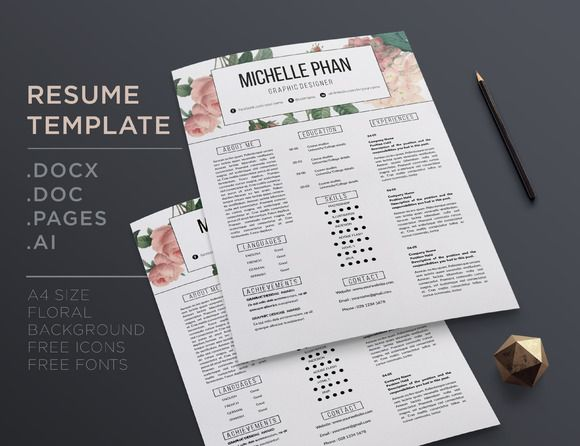 10 best Beautiful Resumes \/ Feminine Resumes \/ Pretty Resume - pretty resume template