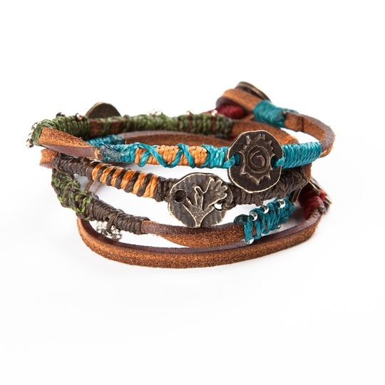 A dream of global harmony is the inspiration for this design.: Style, Wrap Bracelets, Dreams Bracelets, Wakami Dreams, Jewelry, Products, Leather Wraps Bracelets, Leather Dreams, Leather Bracelets