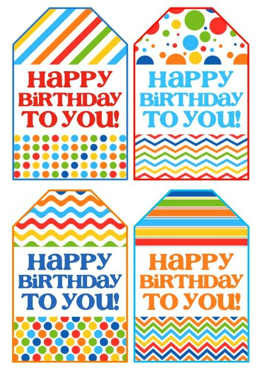 Refreshing image within free printable birthday labels and tags