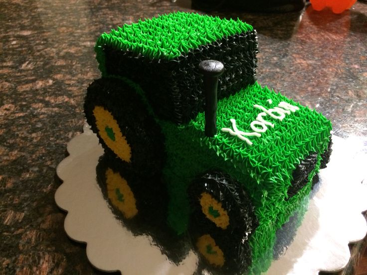 Tractor smash cake