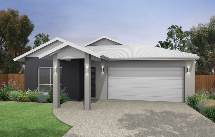 Similar to colour scheme ive chosen    White roof, light/medium grey render, dark grey feature render  Ill have wood look garage and stained front door