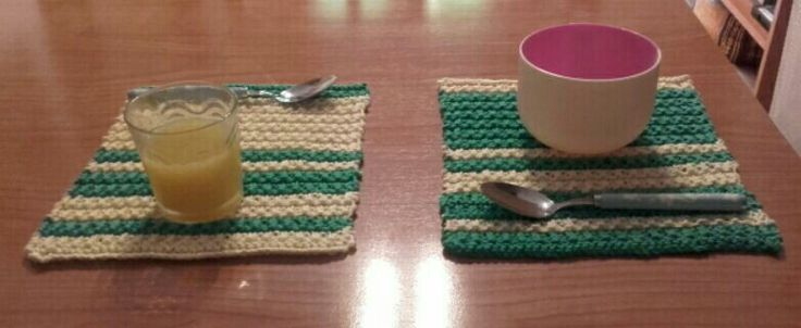 Manteles individuales // Set of individual tablecloths #tricot #punto #manteles #accesorioshogar #knitting #tableclothes