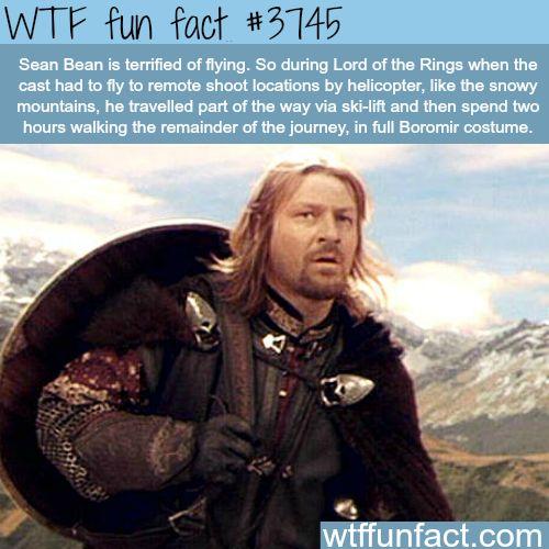 Sean Bean as Boromir - WTF fun facts