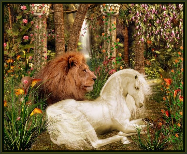 'The Lion And The Unicorn' by sylki51 on deviantART