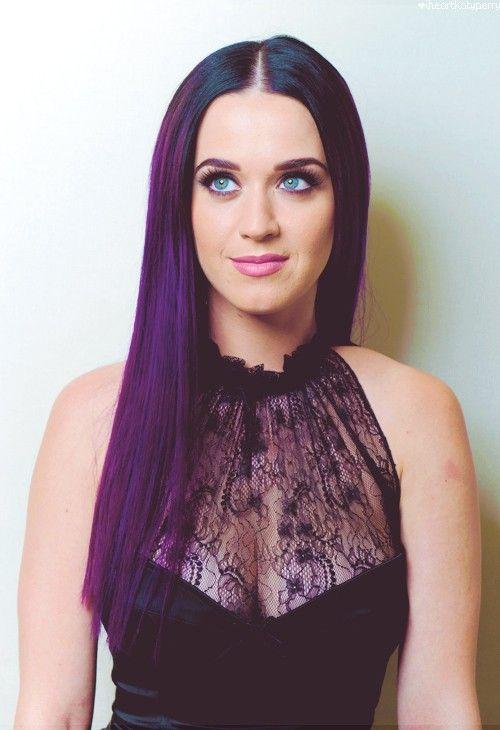 eyes, guilty pleasure, hair, katy perry  #hair #purple #cute www.loveitsomuch.com