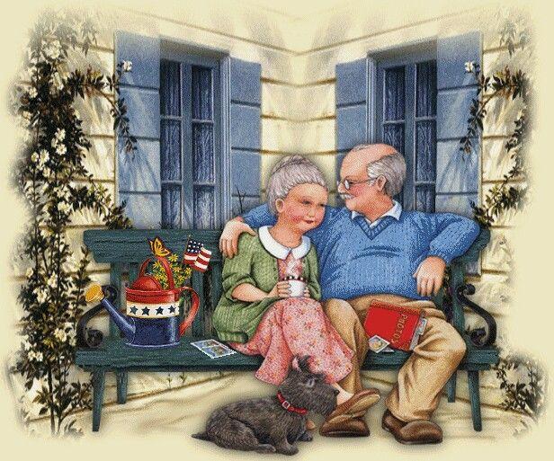 Анимация внучка и бабушка, для открыток картинки