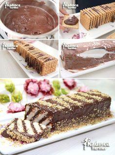 Bisküvili Pasta Tarifi. No-Bake Biscuit Cake Recipe