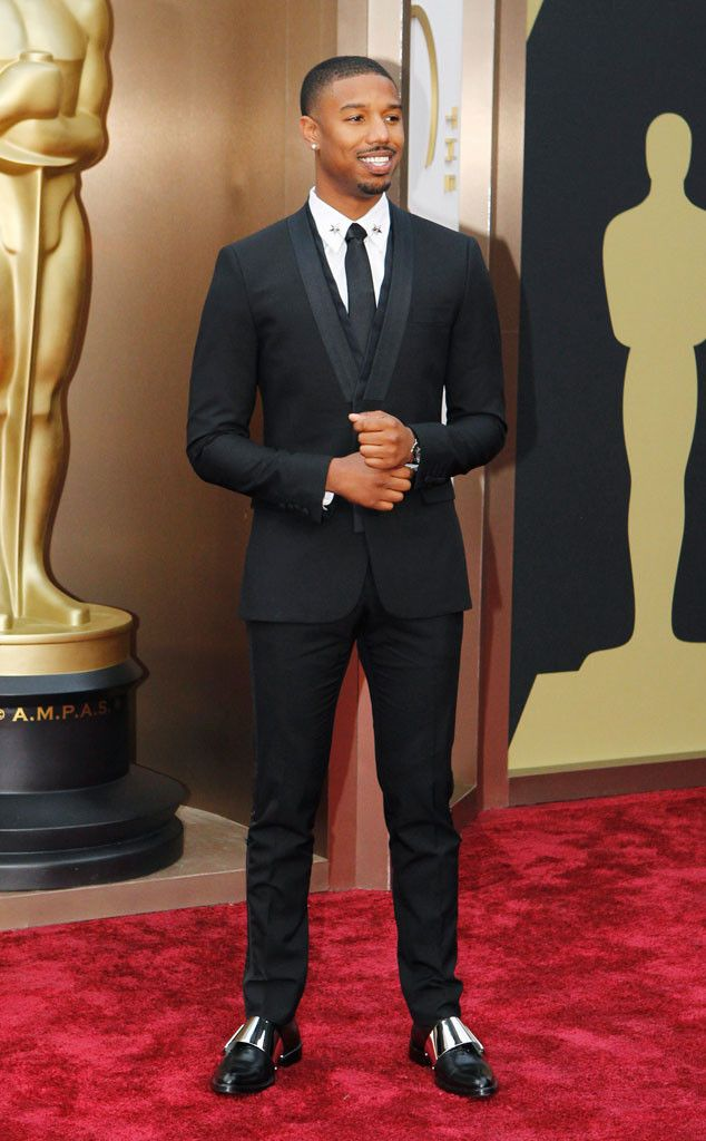 Michael B. Jordan I love the suit and the space shoes! Different but it works!