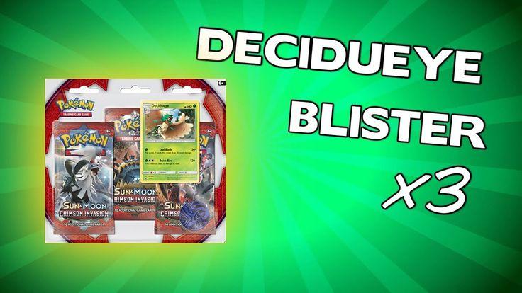 Opening 3x Pokemon Decidueye Blister Packs - Crimson Invasion
