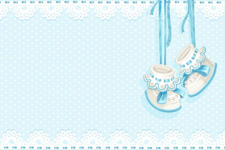 convite cha de bebe azul e branco urso - Pesquisa Google