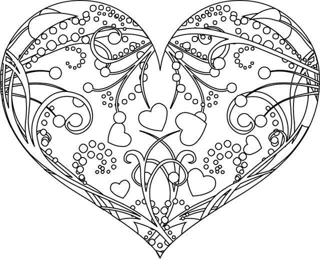 Раскраска антистресс сердечки