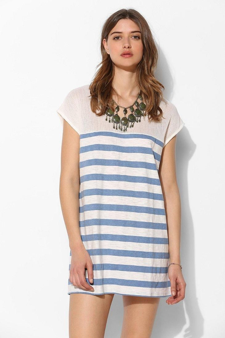 MINKPINK Raw Power Mesh-Top Stripe Tunic from Urban Outfitters