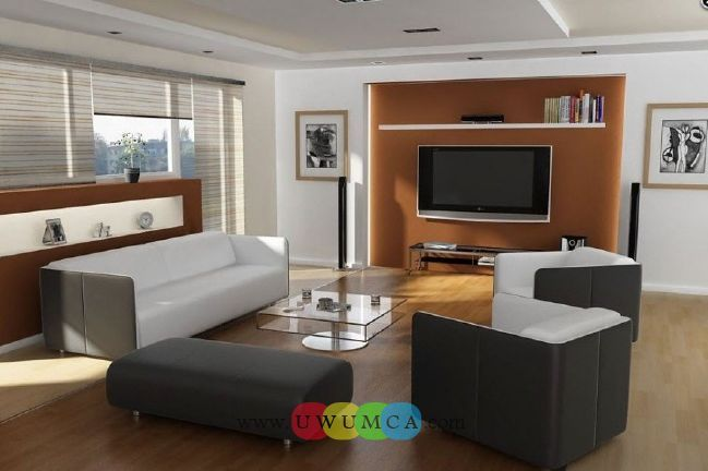 Living Room:Modern TV Wall Units 08 In Light Brown Colordecorating Brazilian Living Room And Lighting With Sofa Furniture Coffe Table Chairs Rug Design Decor Luxury Living Room Decor of an Art Collector by Gisele Taranto