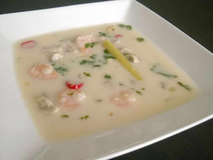 Thai coconut soup with shrimps http://bit.ly/Recipe4share