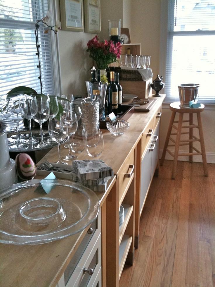 free standing kitchen -- ikea verde
