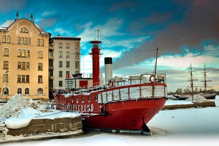Helsinki, finland, winter.
