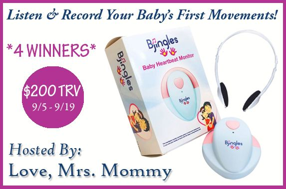 Go to their site, do not comment on my Pinterest page as I'm not hosting this giveaway.  Love, Mrs. Mommy: Bjingles Baby Heartbeat Monitor Giveaway! 4 Winner...