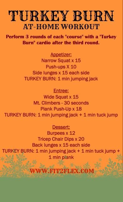 Fit2Flex*: Turkey Burn Workout. No equipment needed @ fitfluential
