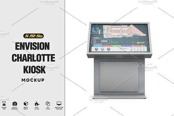 Envision Charlotte Kiosk Mockup Personal Presentation Mockup Mockup Design