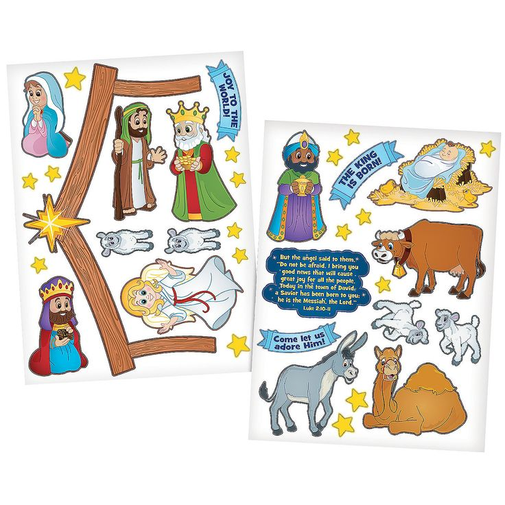 Nativity+Wall+Clings+-+OrientalTrading.com
