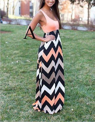 sexy Damen Sommer Abendkleid Festkleider lange Maxi Kleid  Größe 32-38