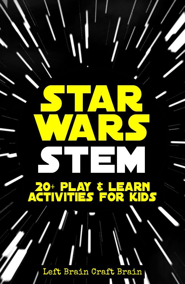 Kids can play & learn with their favorite characters with these Star Wars STEM activities.