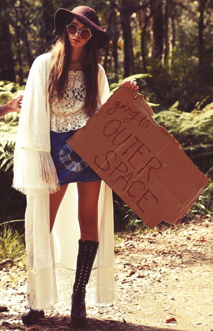 ☮ American Hippie Bohemian Boho Style ~ Need a lift