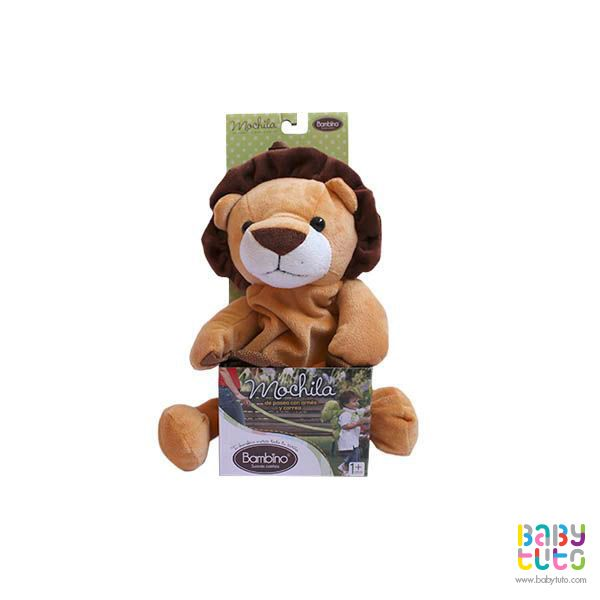 Mochila de paseo león, $7.410 (precio referencial). Marca Bambino: http://bit.ly/1Ivuwat