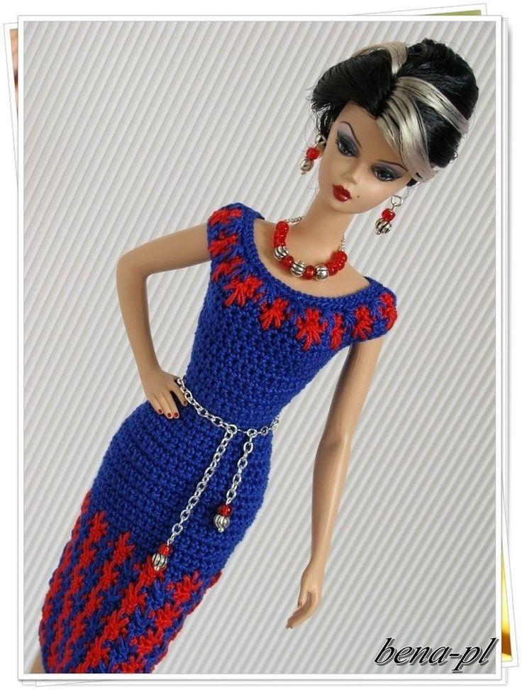 bena-pl Clothes for Vintage Barbie & Silkstone, Fashion Royalty OOAK outfit